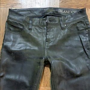 Nordstrom BlankNYC Coated wax leather pants